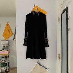 black gold studded dress